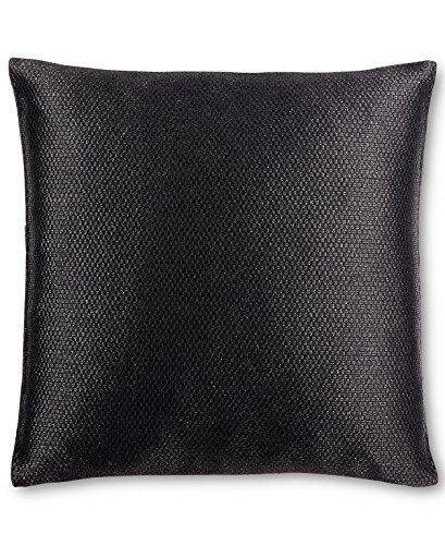 Calvin Klein Home City Plaid Broken Lines Pillow, 18x18 Dec, Black