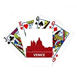 Venice Italy Red Landmark Pattern Poker Playing Cards Tabletop Game Gift