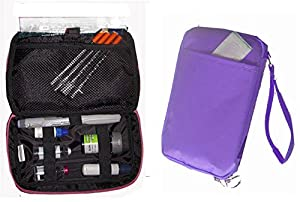 Diabetic Organizer Cooler Bag-for Insulin, Testing Supplies ,With Ice Pack -Purple