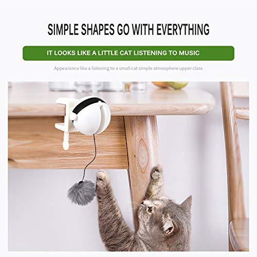 Bola de elevaci/ón el/éctrica Yo-Yo para Gato Mascotas Bola de Gato Inteligente para Mascotas con Apagado autom/ático SUNJULY Bola de luz LED interactiva Cat Toy