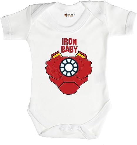 """Body """"Iron Baby"""" Marvel para bebés de 0-24 meses, todos los tamaños, unisex Talla:6-12 meses: Amazon.es: Bebé"""