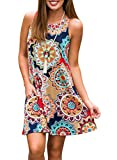 Best Beach Dresses - ZESICA Women's Summer Sleeveless Damask Print Pocket Loose Review