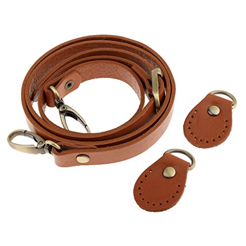 Bag Shoulder Handbag Homyl Replacement Handle Strap body Cowhide Leather Cross 2Pc qR6w7BRxE
