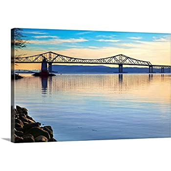 New York, Sleepy Hollow, Tappan Zee Bridge Canvas Wall Art Print, 36