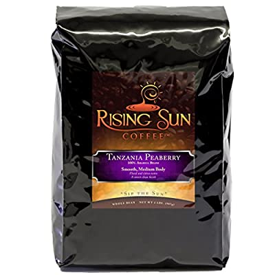 Tanzania Peaberry, Roasted Coffee Beans, Highest Quality, Some of the Best Whole Bean Gourmet Coffee by Rising Sun Coffee