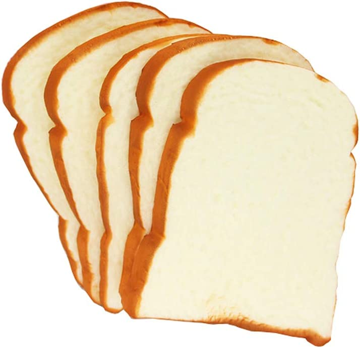 HTFGNC Kmiunty 5 PCS Artificial Toast Bread Fake Food Model Photography for Home Kitchen Party Decoration