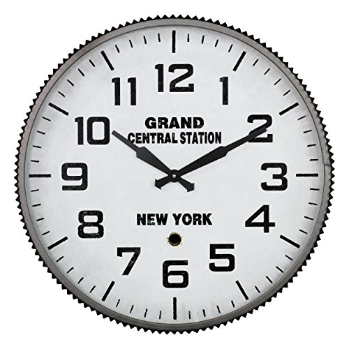 Aspire Wall Clock Grand Central Station, Gray (Central Station Clock)