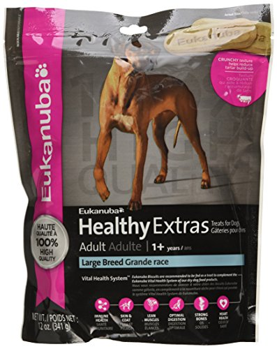- Eukanuba HEALTHY EXTRAS Adult Large Breed Dog Treats 12 Ounces