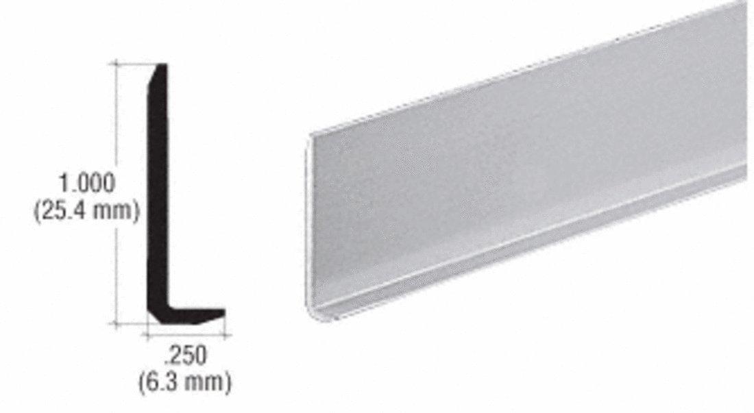 CRL Satin Anodized Aluminum 1/4'' L-Bar Extrusion - 12 ft Long