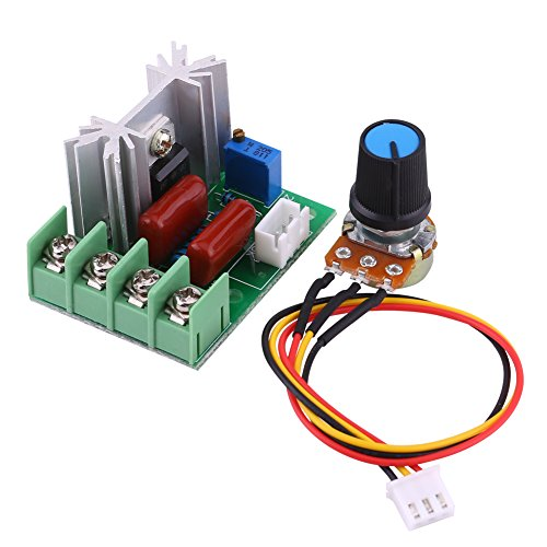 AC 50-220V 2000W SCR Electric Voltage Regulator Module Board Output Voltage Stabilizer Transformer Switch Temperature/Motor Speed Controller Light Dimmer