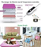 18 x 18inch FCC Certificate USA AC 110~130V Pet dog puppy electricity warm blanket heating mat soft cat kitty bed cushion & Winter home heating sofa blanket office warming pad heating chair cushion