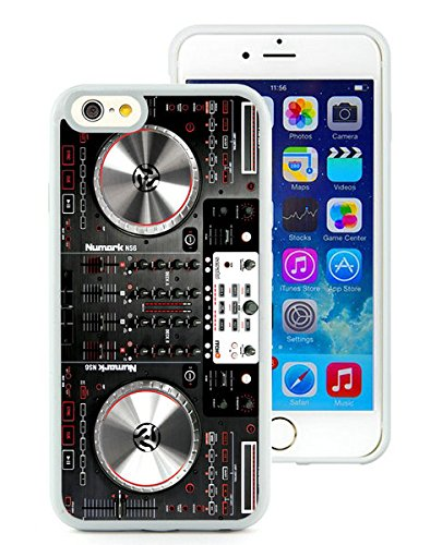 iPhone 6 TPU Case,Numark NS6 Disc Jockey DJ Turntable Rubber Case for iPhone 6 (4.7) White Cover