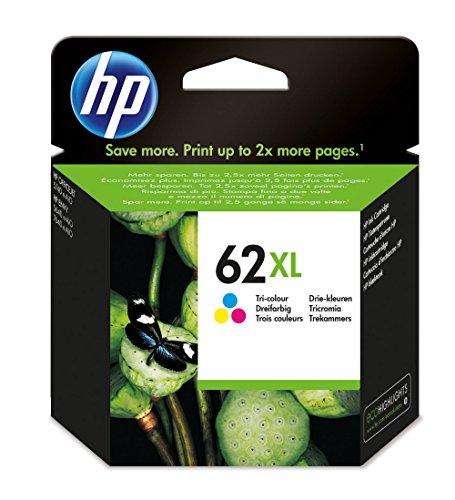 HP 62XL 11.5ml 415páginas Cian, Amarillo Cartucho de Tinta - Cartucho de Tinta para impresoras, 62XL, Cian, Magenta,...