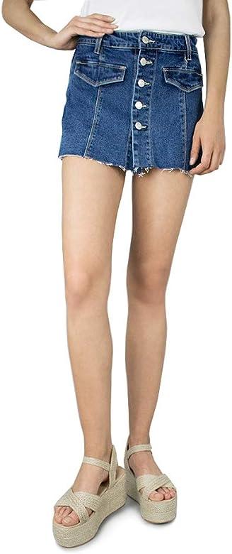 Vissteme Pantalon Corto Vaquero con Falda Azul: Amazon.es: Ropa y ...