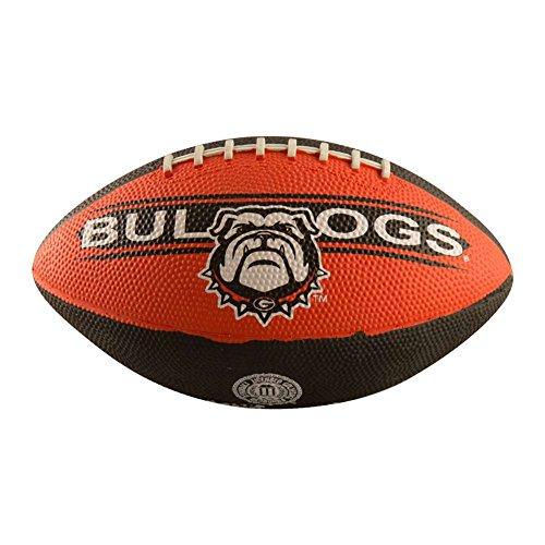 Logo Brands NCAA Georgia Bulldogs Mini Size Rubber Football, Brown - Georgia Bulldogs Mini Football
