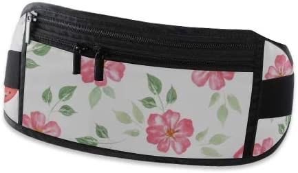 Travel Waist Pack,travel Pocket With Adjustable Belt Pattern Vintage Red Roses Flowers Running Lumbar Pack For Travel Outdoor Sports Walking