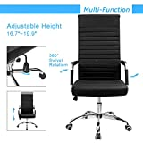 Furmax Ribbed Office Chair High Back PU Leather