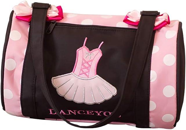 DANCE YOU Bolsa de Ballet Danza Deportes para Ni/ña Tote Bolsa Personalizada Bordada Princesa Ni/ña Infantil