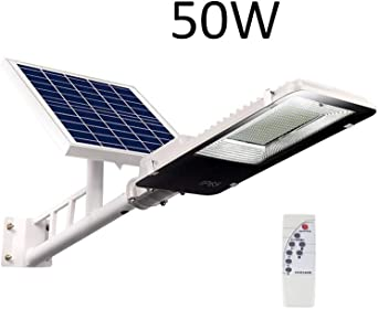 Farola Solar LED,Ultra Potente Farolas Solares,Iluminación Solar Al Aire Libre, Luz Solar Al Aire Libre A Prueba De Agua IP65, Luz Solar Para Jardín, Garaje, Acera, Escalera (Size : 50W): Amazon.es: Iluminación