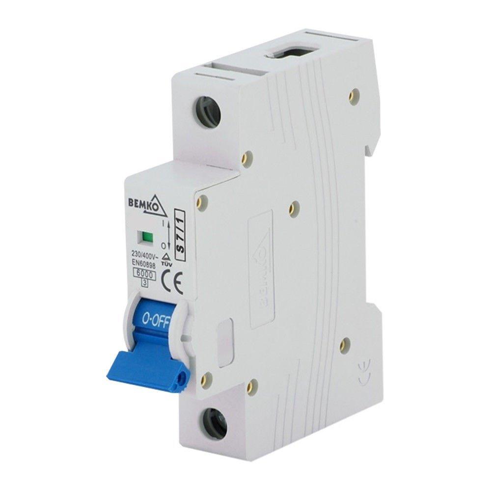 Leitungsschutzschalter B16A 1-Polig 10kA  VDE Sicherungsautomat LS-Schalter SEZ