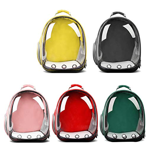 shine-hearty Pet Dog Transparent Breathable Puppy Cat Backpack Space Capsule Dog Outdoor Carrier Bag Transport Bag Portable Bag,Green,33X27X42cm,China ()