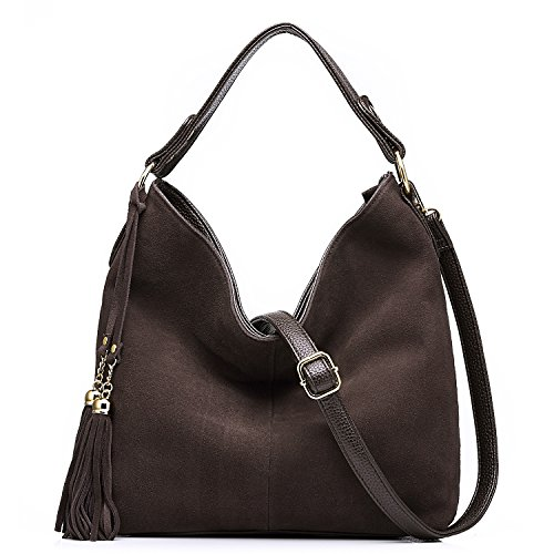 Suede Leather Hobo - Realer New Design Women Tote Leather Purse Crossbody Bag