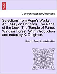 alexander popes the rape of the lock essay Essay alexander pope the differences between eighteenth-century literature and romantic poems, with respect to history is constituted here  the rape of lock.