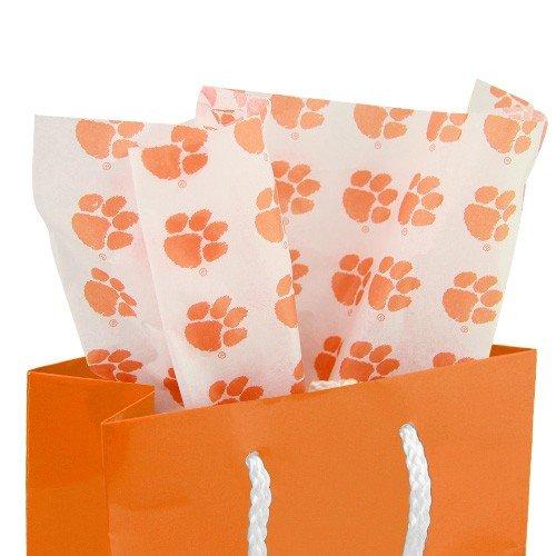 (NCAA Clemson Tigers White Team Logo Print Tissue Paper)