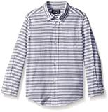 The Children's Place Baby Boys' Long Sleeve Button-Up Shirt, White 84127, 5T
