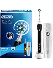 Oral-B PRO 2000  Rechargeable Electric Toothbrush, Black - Powered by Braun