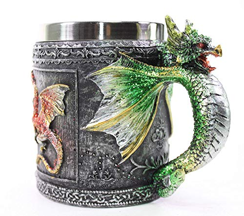Mythical Green Royal Dragon Mug Serpent Handle Medieval Collectible Stein Halloween Magical Party Home Decor Gift ~ We Pay Your Sales Tax]()