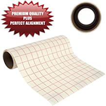 """Angel Crafts 12"""" by 8' PREMIUM Transfer Paper Tape Roll with Grid - PERFECT ALIGNMENT for Cricut or Silhouette Cameo Self Adhesive Vinyl for Walls, Signs, Decals, Windows, and More"""