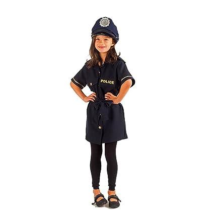 Krause & Sohn Disfraz de niña policía Klara 116-140 Vestido Azul ...