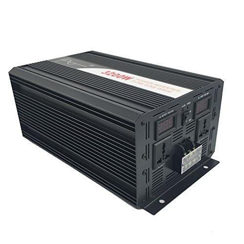 Xijia 3200W (Peak 6400W) Pure Sine Wave power Inverter DC 12V 24V 48V to AC 120V 60HZ Solar converter For Home Use car (DC 48V to AC 120V) by Xijia (Image #3)