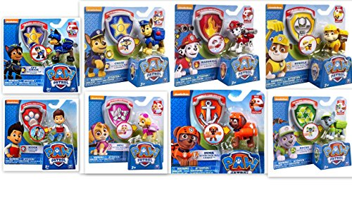 Paw Patrol Bundle of 8 Action Pack Pups Badges Skye Rocky Chase Marshall Rubble Zuma Ryder Spy (Spy Badge)