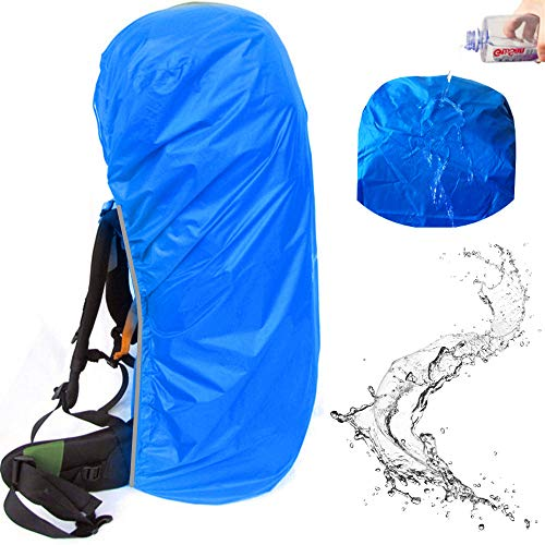 f Backpack Rain Cover Suitable for (55-70L, 70-90L) Backpack (Blue, XL (for 55-70L Backpack)) ()