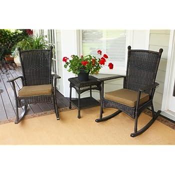 Portside Classic Rocking Chair Set   Dark Roast