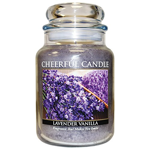 A Cheerful Giver Lavender Vanilla Jar Candle, 24-Ounce