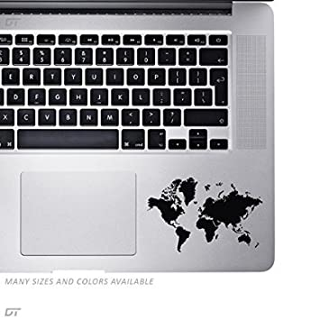 Amazon world map palm rest sticker decal for macbook pro pc world map palm rest sticker decal for macbook pro pc laptop window gumiabroncs Choice Image