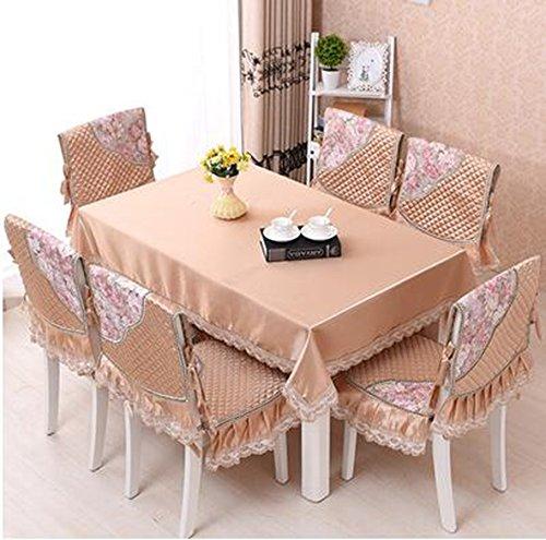 Kissen, dicke Sitzstuhl, europ chen, hochwertigen Stoff, Tischdecken Anzug,130180CM Silk Gelb