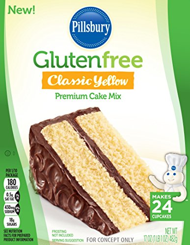 Pillsbury Gluten-Free Classic Yellow Premium Cake Mix, 17 Ounce (Pack of 12)