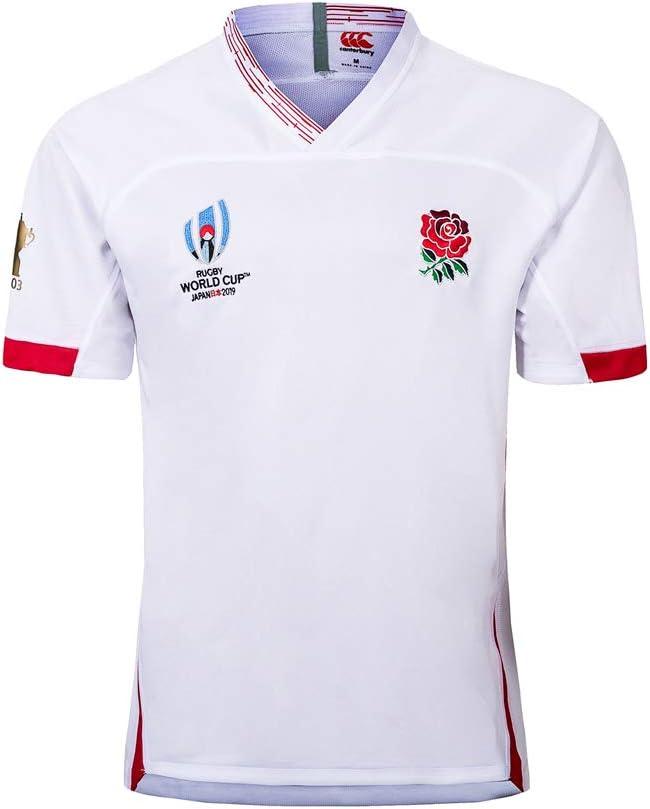 Camiseta De Rugby para Hombre, Entrenamiento De Partido, Sudor Transpirable, Ropa para Fanáticos, Equipo Nacional De Inglaterra: Amazon.es: Deportes y aire libre