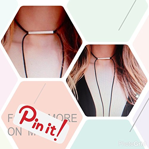WRAP CHOKER BLACK /Brown / Faux Suede Double Minimalist Boho Thin Long Choker Necklace/Birthday Christmas Gift/Gift For Her - Black/Rose Gold/gold /nickel -