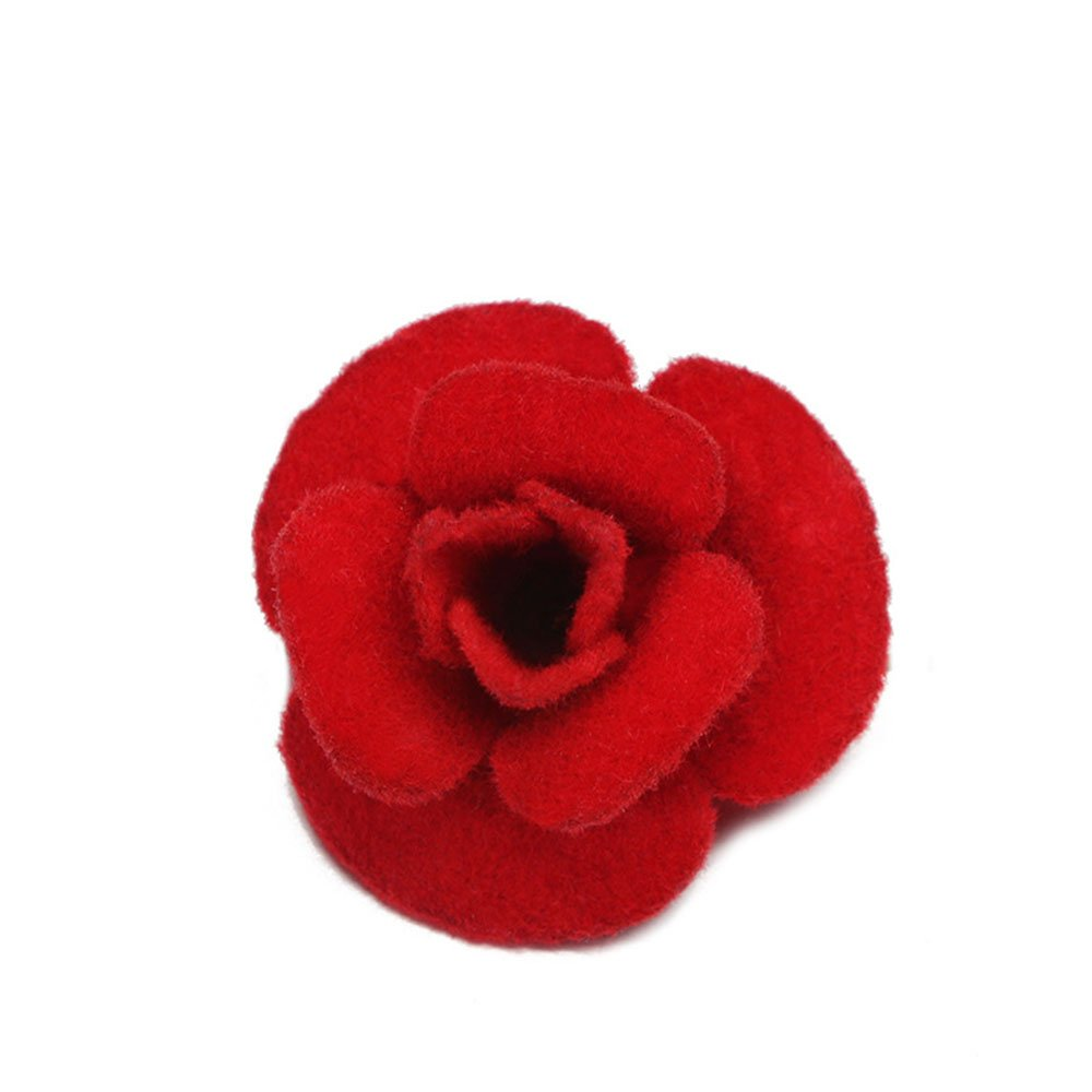 Cloth Rose Flower Brooch Collar Pins for Mother Formal Dress Hat Brooches MINGHUA
