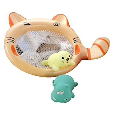 Bathtub Toy Cat Fishing Game Children Bathing Water Beach Toys, Preschool (Multicolor), Shipping from The United States: Garden & Outdoor