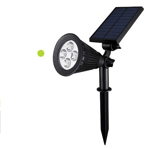 Abazq Proyector Solar LED, 2-en-1 Exterior 4LED de Pared de Pared ...
