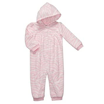 a10126caeb04 Amazon.com  CARTER S Girl s 9 Months Pink Zebra Fleece Hooded ...