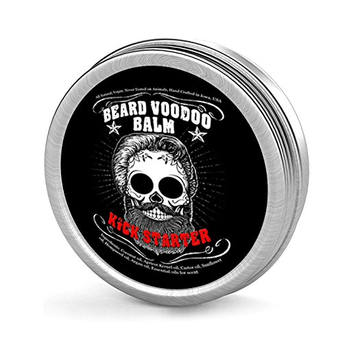 51YWvmkwk0L - Castor Oil for Beard Growth Formula – The HOLY GRAIL of Beard Balms – Large 2 oz – Made with Organic Beneficial Oils – Beard Voodoo Kickstarter Balm