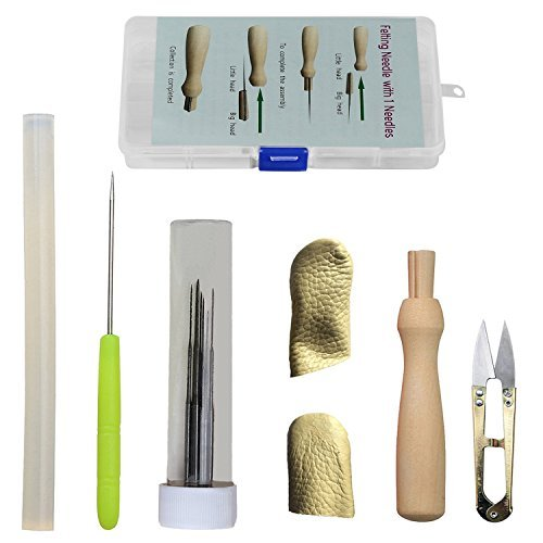 Needle Felting Needle Felting Supplies Needle Felting Kits Needle Felting Tool Awl Needles Craft Kit Set with clear boxes