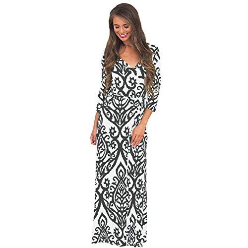 Larga amp;S elegante Noche Prom vestido vestido Maxi Vintage MEI de fiesta de mujer negro 0dxTpq